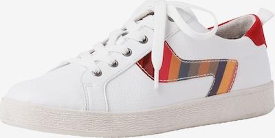 JANA Sneakers laag in de kleur Sinaasappel / Rood / Wit: Vooraanzicht