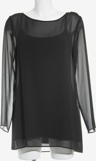 Barbara Schwarzer Langarm-Bluse in S in schwarz, Produktansicht