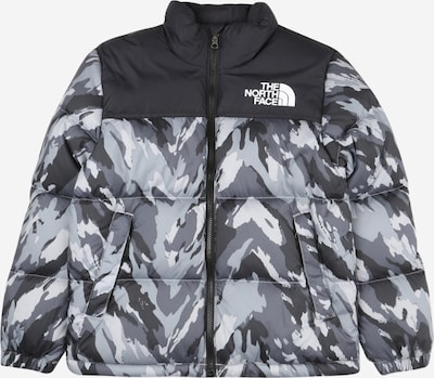 THE NORTH FACE Sportjacke '1996 Retro Nuptse' in grau / schwarz / weiß, Produktansicht