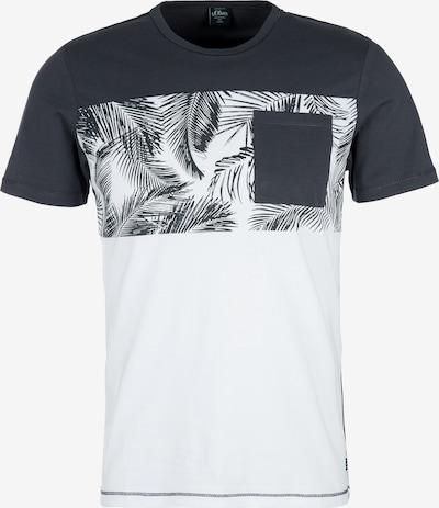 s.Oliver T-Shirt in anthrazit / weiß, Produktansicht