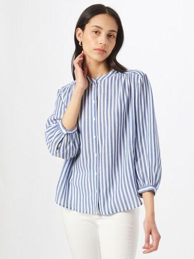 OPUS Blusa 'Fiefer' en azul / blanco, Vista del modelo
