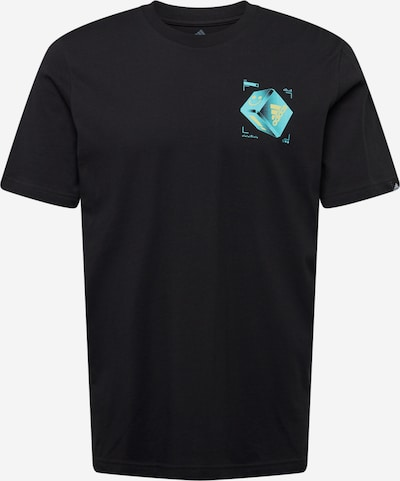 ADIDAS PERFORMANCE T-Shirt fonctionnel en bleu clair / noir, Vue avec produit