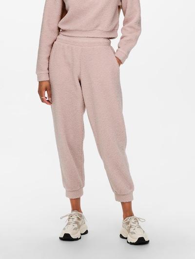 Pantaloni 'Teddy' ONLY pe roz, Vizualizare model