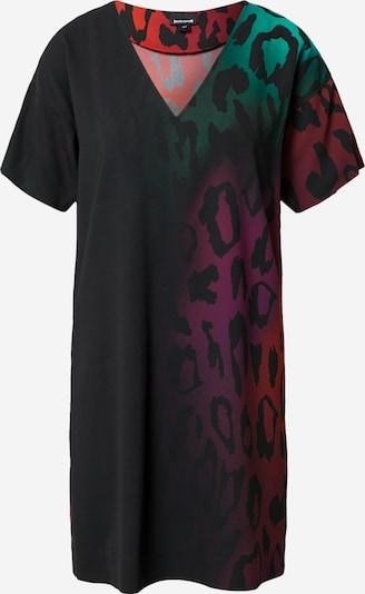Just Cavalli Robe en vert / rose / rouge clair / noir, Vue avec produit