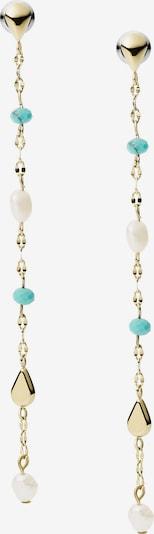 FOSSIL Ohrringe in gold / jade / naturweiß, Produktansicht