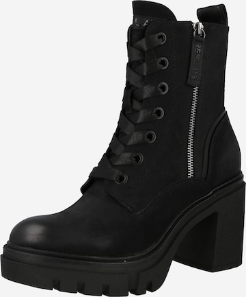 REPLAY Lace-Up Ankle Boots 'LINEBOOK' in Black