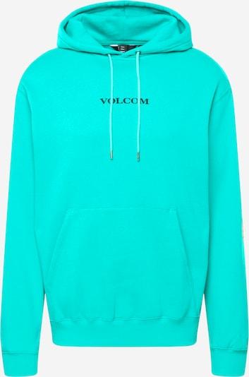 Volcom Sweatshirt 'STONE' in Turquoise / Black, Item view