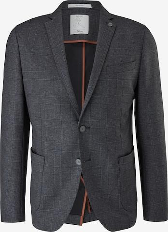 s.Oliver BLACK LABEL 'Slim: Jogg Suit' Sakko in Grau