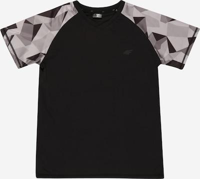 4F Sportshirt in grau / dunkelgrau / schwarz, Produktansicht