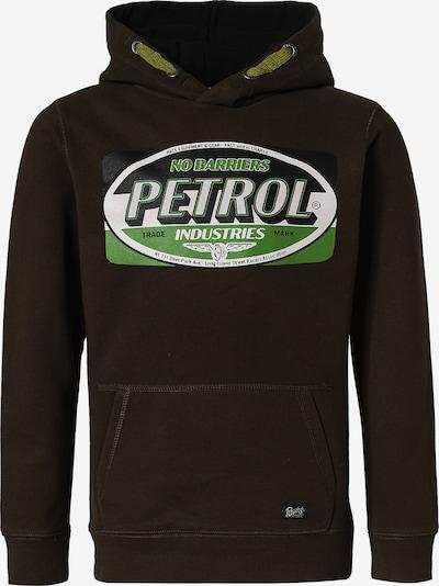 Petrol Industries Sweatshirt in mokka / grün / weiß, Produktansicht