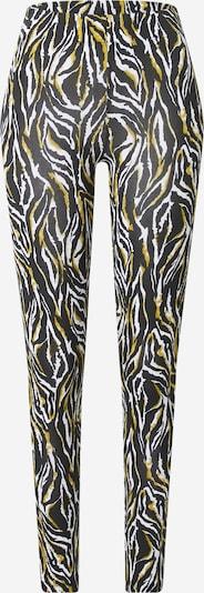 Pantaloni 'Karren' mbym pe verde stuf / negru / alb, Vizualizare produs