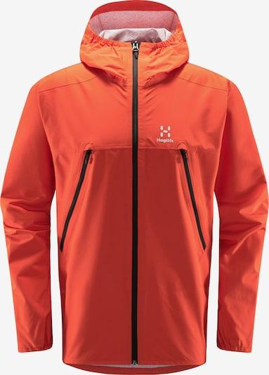 Haglöfs Outdoorjacke 'Spira' in orange / weiß, Produktansicht