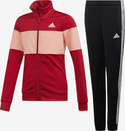 ADIDAS PERFORMANCE Trainingsanzug in altrosa / rot / schwarz / weiß, Produktansicht