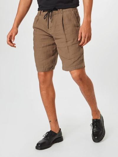 BOSS Casual Plisované nohavice - tmavobéžová, Model/-ka