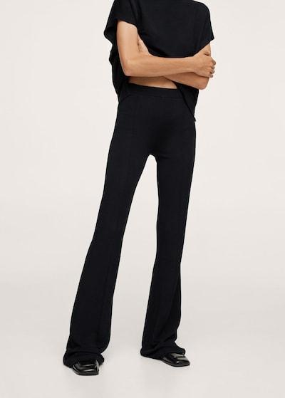 MANGO Hose 'Nica' in schwarz, Modelansicht