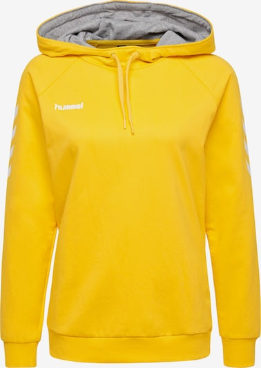 Hummel Sportsweatshirt in gelb / weiß, Produktansicht