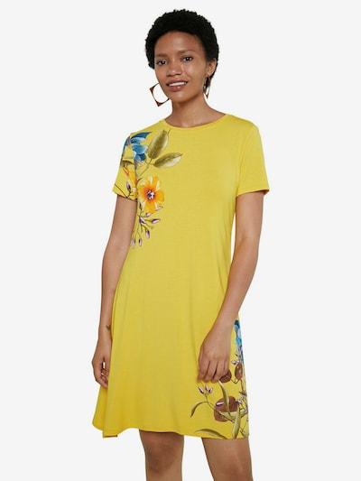 Desigual Robe d'été 'LAS VEGAS' en bleu / jaune / kaki / violet / orange, Vue avec modèle