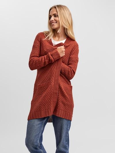 VERO MODA Strickjacke in rot, Modelansicht