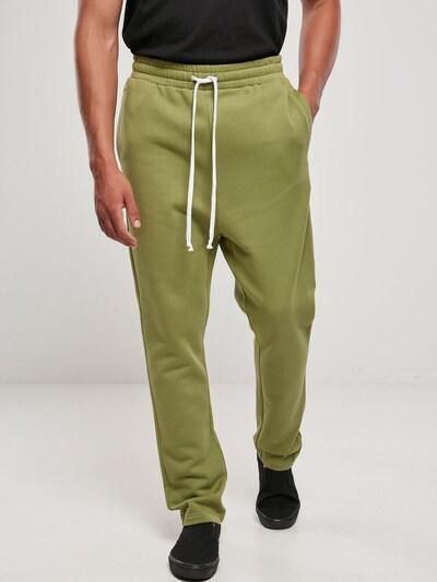 Urban Classics Pantalon en roseau / blanc, Vue avec modèle