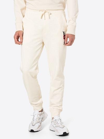HUGO Nohavice 'Dohagi' - krémová / červená / čierna / biela, Model/-ka
