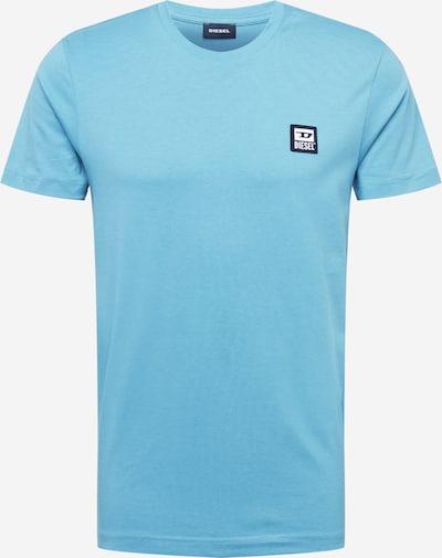 DIESEL T-Shirt 'DIEGOS' en bleu clair / noir / blanc, Vue avec produit