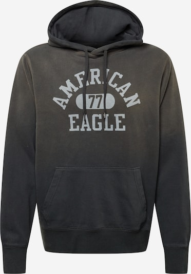 Bluză de molton American Eagle pe gri / negru, Vizualizare produs