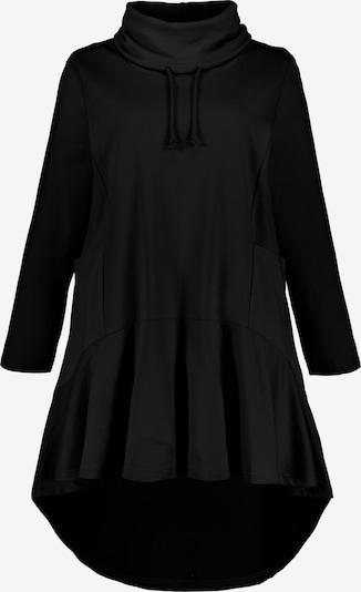 Ulla Popken Long-Sweater in schwarz, Produktansicht