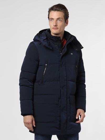 Calvin Klein Manteau d'hiver en bleu, Vue avec modèle