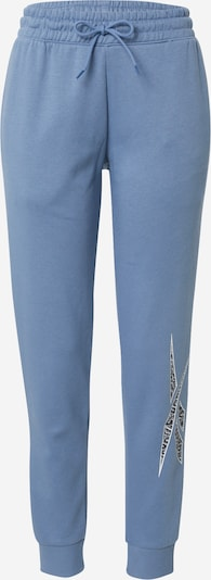 Pantaloni sport Reebok Sport pe albastru fumuriu / negru / alb, Vizualizare produs
