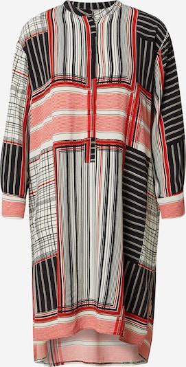 Rochie tip bluză 'Nolena' Masai pe roșu intens / negru / alb, Vizualizare produs