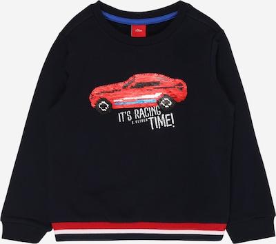 s.Oliver Sweatshirt in blau / dunkelblau / rot / weiß, Produktansicht