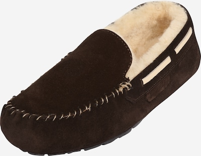 SHEPHERD OF SWEDEN Pantoufle 'STEFFO' en brun foncé, Vue avec produit