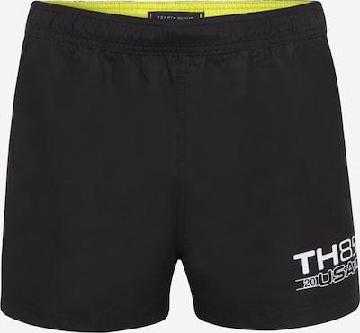 Șorturi de baie Tommy Hilfiger Underwear pe galben lămâie / negru / alb, Vizualizare produs
