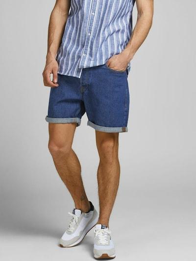 JACK & JONES Jeans 'Chris' in de kleur Blauw: Vooraanzicht