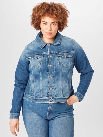 Tommy Jeans Curve Välikausitakki värissä sininen denim: Näkymä edestä