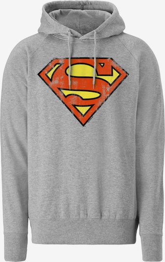 LOGOSHIRT Kapuzenpullover 'Superman - Logo' in graumeliert, Produktansicht