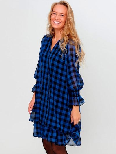 Noella Kleid in blau / schwarz, Modelansicht