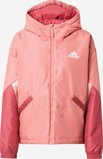 ADIDAS PERFORMANCE Sudadera con cremallera deportiva en rosa / rosa oscuro / blanco, Vista del producto