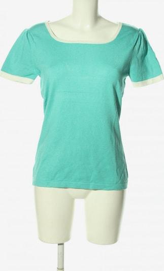 Himmelblau by Lola Paltinger Strickshirt in M in türkis / weiß, Produktansicht