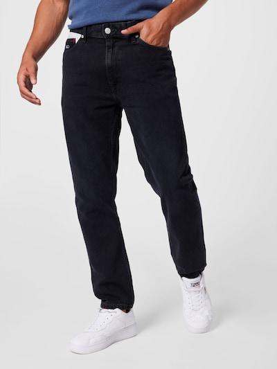 Tommy Jeans Jeans in rot / black denim / weiß, Modelansicht