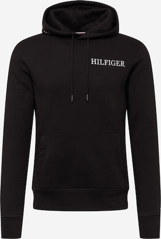 TOMMY HILFIGER Sweatshirt in Black