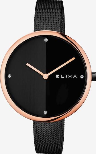 Elixa Quarzuhr in schwarz, Produktansicht