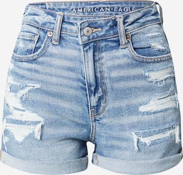 Jeans de la American Eagle pe albastru