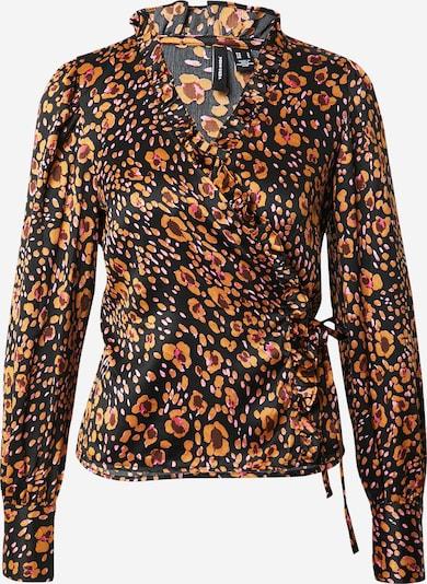 VERO MODA Blouse in de kleur Sinaasappel / Zwart, Productweergave