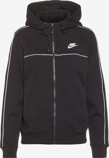 Hanorac 'NSW' Nike Sportswear pe negru / alb, Vizualizare produs