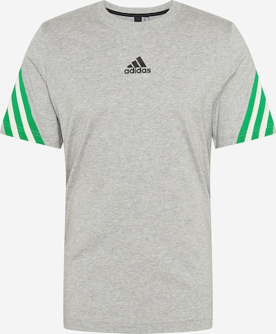 ADIDAS PERFORMANCE Functioneel shirt in de kleur Grijs gemêleerd / Groen / Zwart / Wit, Productweergave
