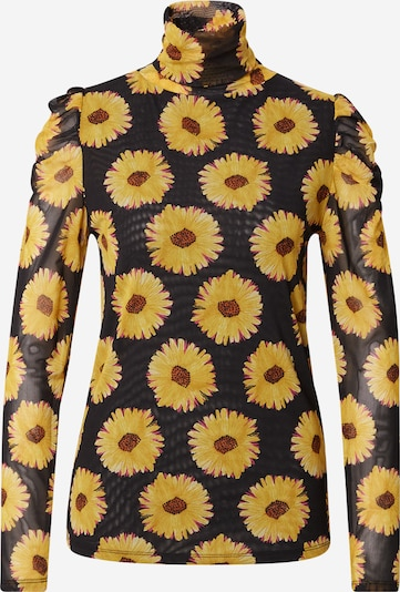 Fabienne Chapot Shirts 'Jane' i mørkebrun / sennep / mørkeorange / pitaya / sort, Produktvisning