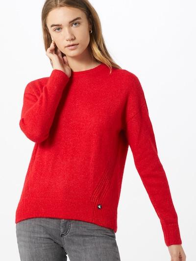 Calvin Klein Jeans Pull-over 'Lofty Yarn' en rouge: Vue de face
