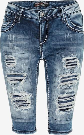 CIPO & BAXX Shorts in schickem Design in blau, Produktansicht