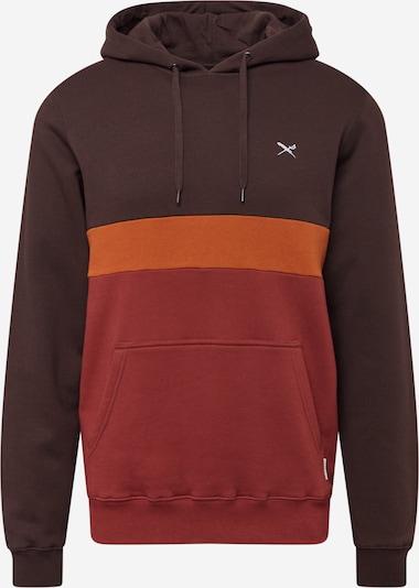 Iriedaily Sweatshirt 'Court 2' in dunkelbraun / dunkelorange / dunkelrot, Produktansicht